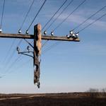 3. На снимке обычный столб, частично уцелевший после пожара в районе поселка Рудня Волгоградской области. Источник: Игорь Подгорный.