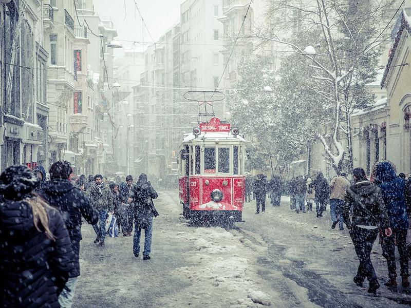 "1 ""Заснежило"". Стамбул, Турция. Автор: Olga Gamburg"