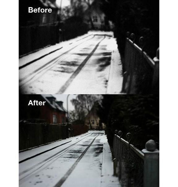 Вот посмотрите, насколько круче стал стали фотки. На примере ниже показана фотка «до» и фотка «после». Разница очевидна
