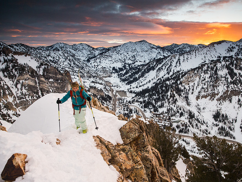 1 Skiing Mount Superior, Utah Photograph by Jay Beyer.