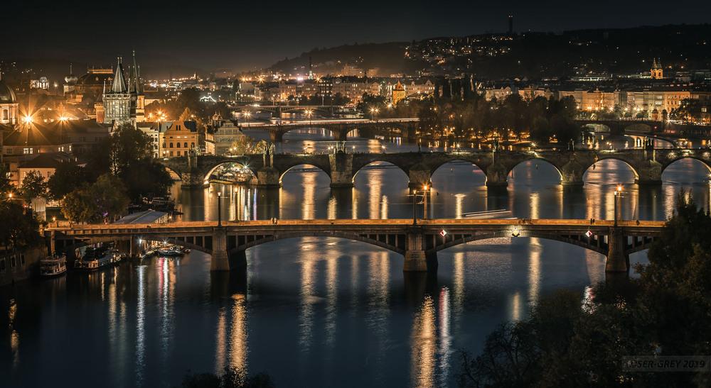 Прага. Пять мостов. Автор: Ser Grey