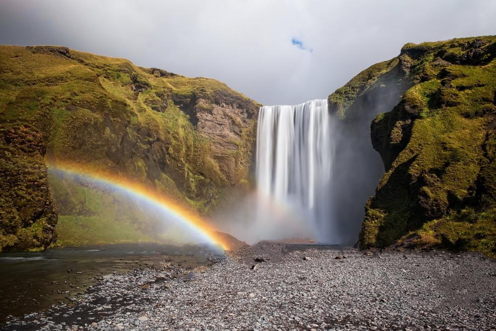Исландская классика - водопад Скогафосс в сентябре Автор: Сергей Вовк