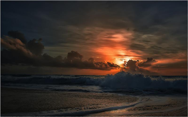 Мексиканские зарисовки!(Карибский закат)... Автор: Александр Вивчарик
