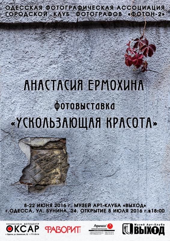 фотовыставка Анастасии Ермохиной «УСКОЛЬЗАЮЩАЯ КРАСОТА»