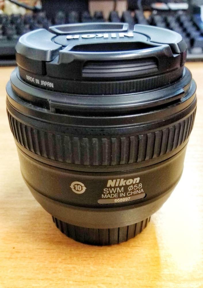 Nikkor 50mm f/1. 4G AF-S + Marumi DHG UV 58mm