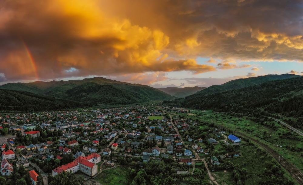 Закат над Сколе. Автор: Сергей Вовк
