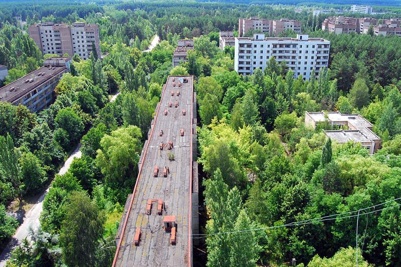 18 Покинутый радиоактивный город Припять, Украина. Источник: castlemaineindependent.