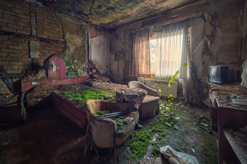 20 Покинутый гостиничный номер. Источник: Matthias Haker.
