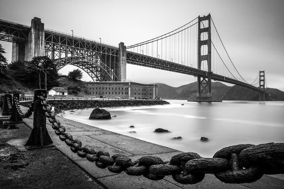 6 Категория «Городской пейзаж», победитель среди молодых фотографов. Мост Золотые ворота. Автор: Kyle Wolfe