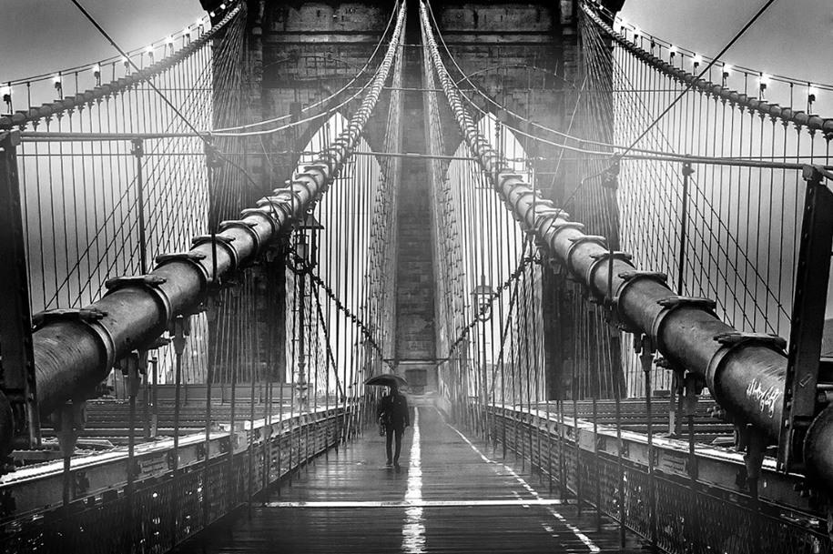 19 Категория «Моё США», 1 место. Туман на Бруклинском мосту. Автор: Az Jackson