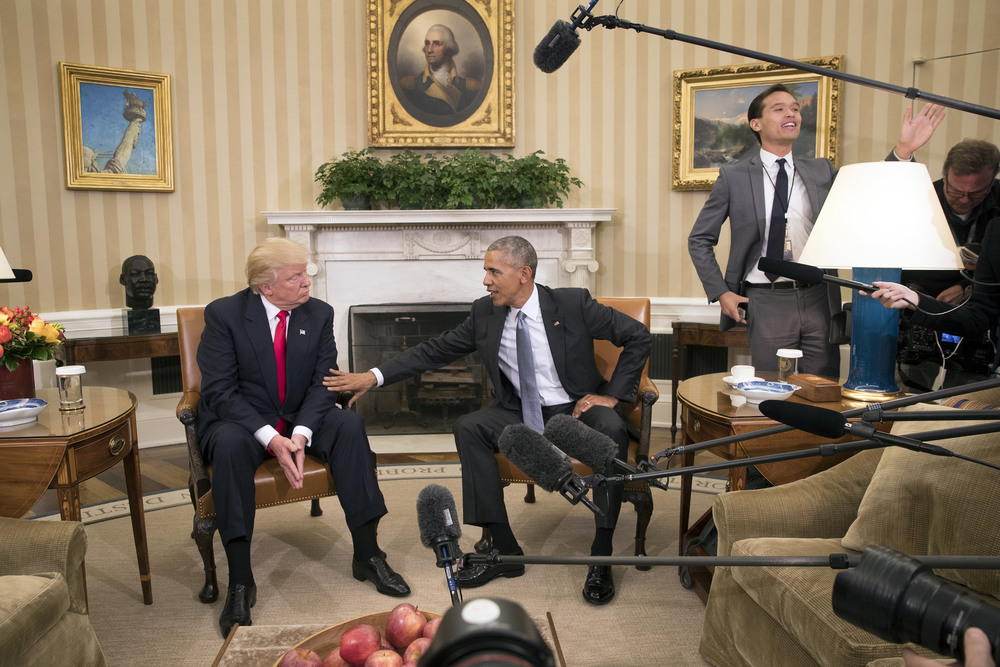 42 Ноябрь. President Obama met President-elect Donald J. Trump at the Oval Office.Stephen Crowley