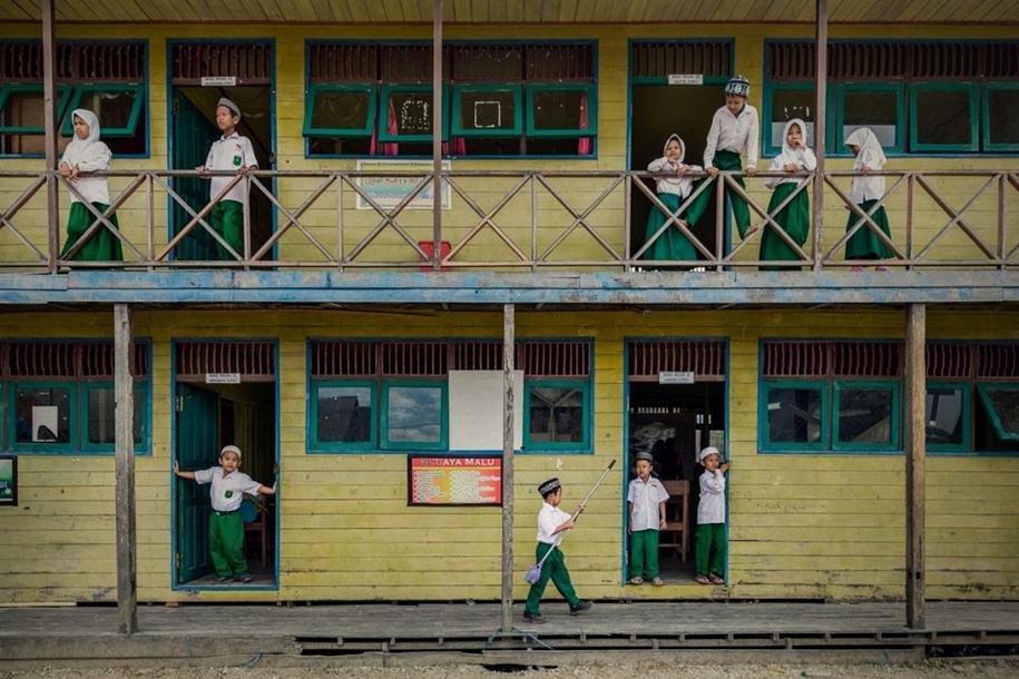 10 Наверху и внизу. Автор фото: Сяоцин Чжан. Местоположение: Южный Калимантан, Индонезия.