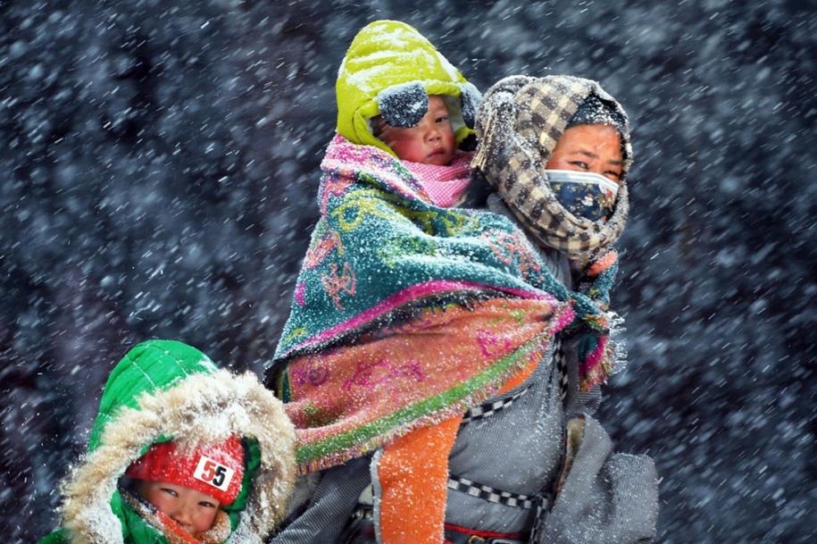 15 Снег и ветер над плато. Автор фото: Лин Цзэн.