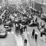 5 Утро первого дня, когда Швеция перешла от левостороннего к правостороннему вождению, 1967.