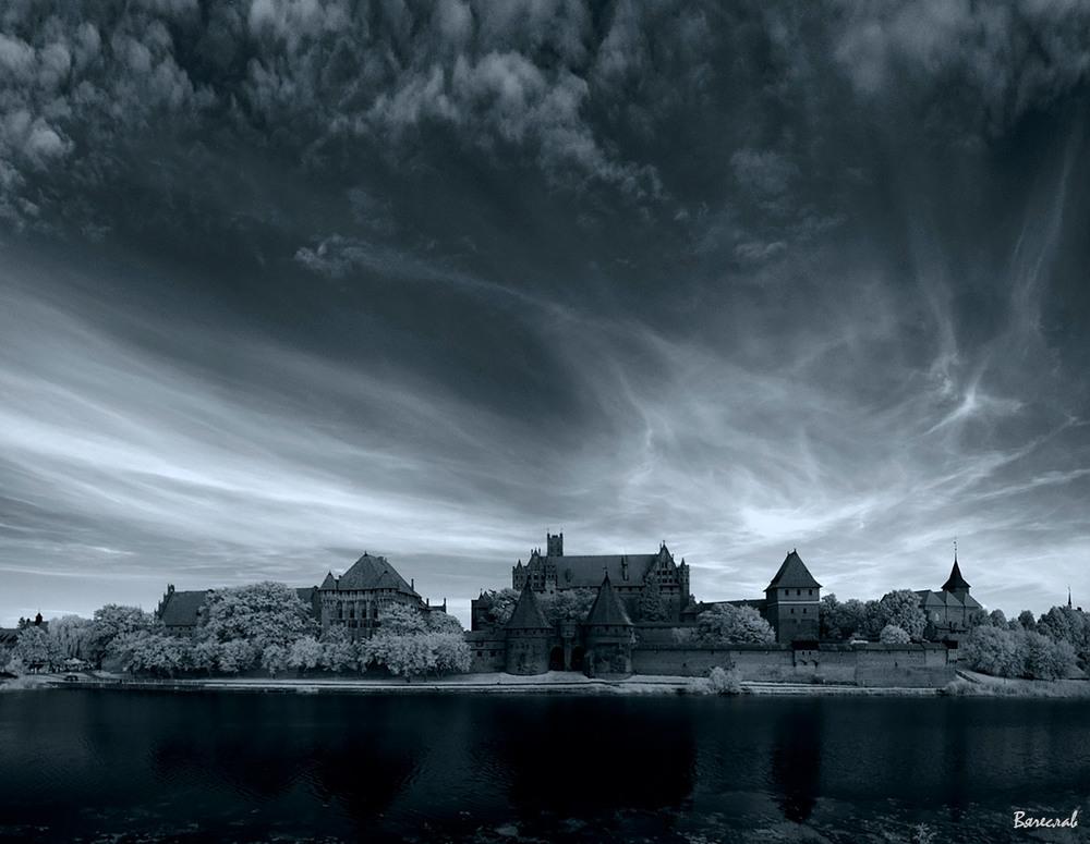 Мальборкський замок, ІЧ світлина Автор: В'ячеслав