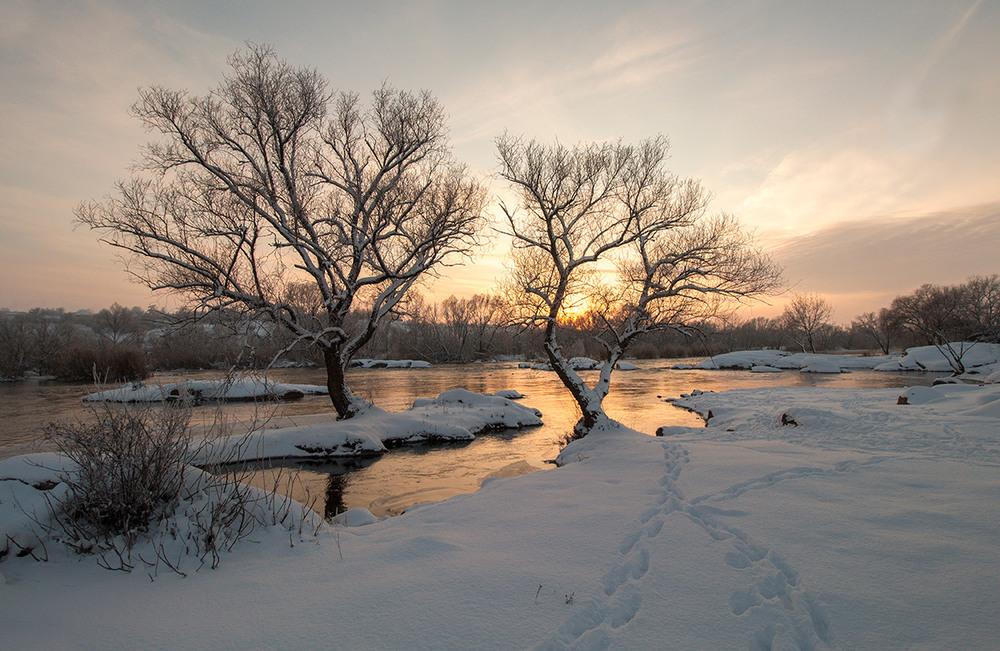 Барви зимового вечора. Автор: Александр Игнатьев