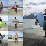 3 Серфингисты на пляжах Рио-де-Жанейро.