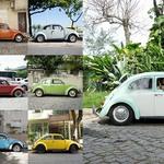 10 VW Beetles на улицах Рио-де-Жанейро.