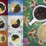 13 традиционный бразильский обед: бобы и рис с фруктами.