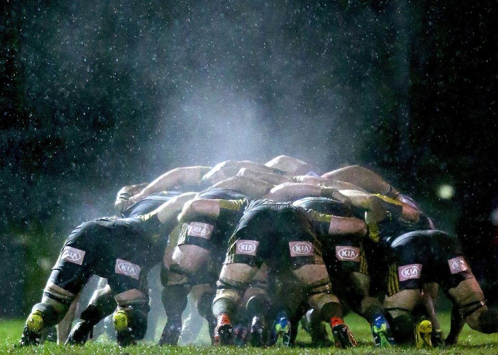 5 23 июня, Мельбурн, Австралия. Регбийные команды «Мельбурн Ребелс» и «Харрикейнз» (Новая Зеландия) проводят выставочный матч на стадионе «Харлекуинз». Фото: Scott Barbour / Getty Images.