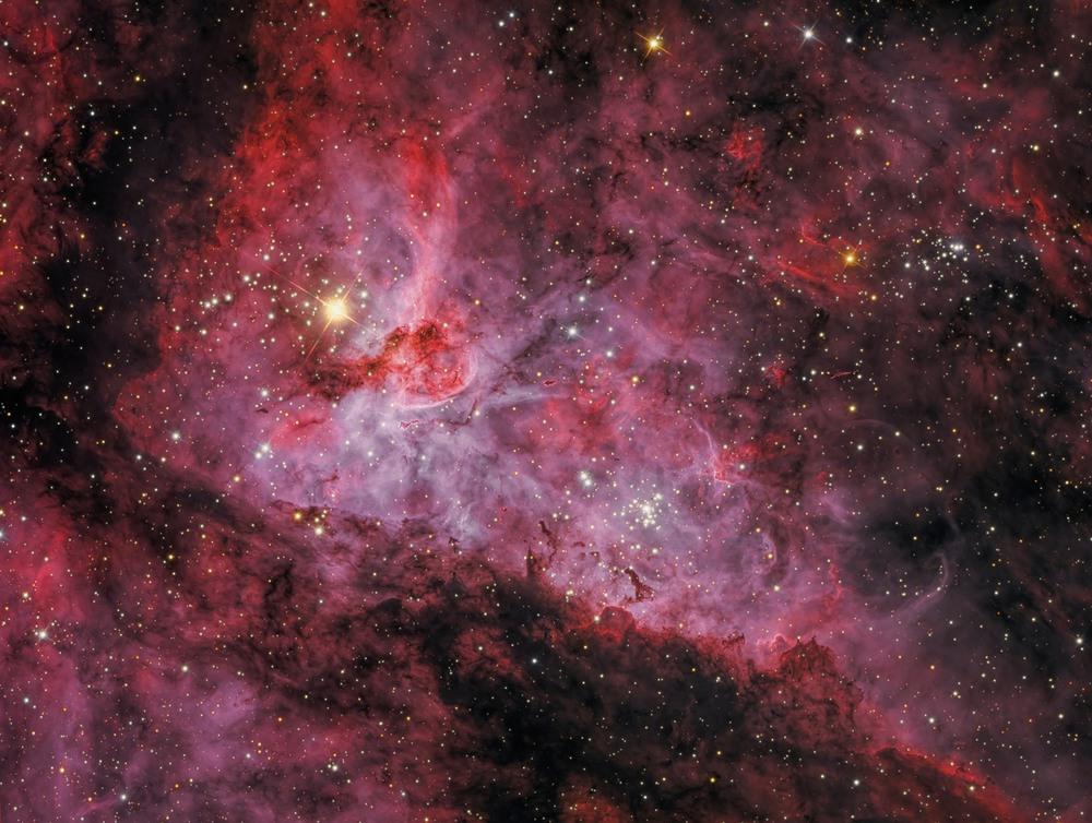 11 Звёздное скопление Trumpler 14 образовалось около 500 тысяч лет назад. Автор -  Peter Ward