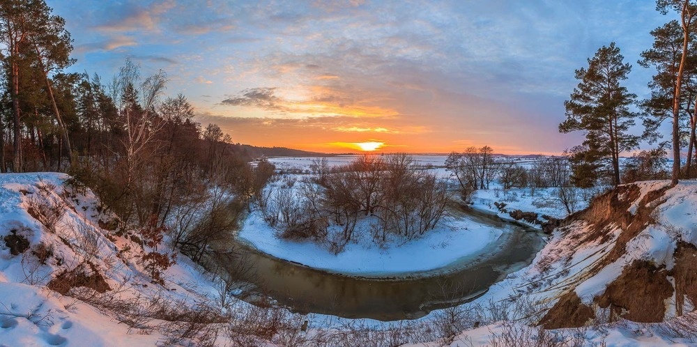 Захід сонця на Високому березі Автор: Андрій Косенко