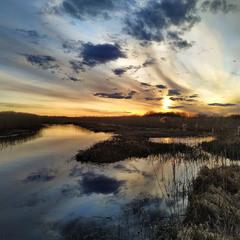 Захід сонця над Прип'яттю