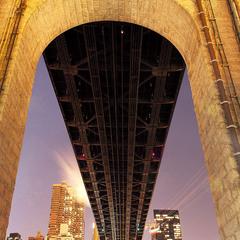 Manhattan under the bridge