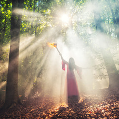 Факел в лучах солнца