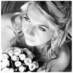 портрет с цветами...