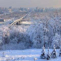 Зимнее утро в парке Славы