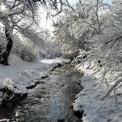 вода и снег