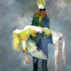 Муза в обмороке на руках цифрового художника...(