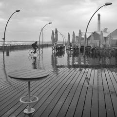 Дождь в Тель-Авивском порту