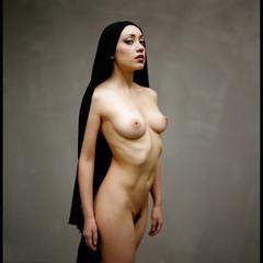 Portrait d'une femme nue.   6x7 home scan,fuji 400h