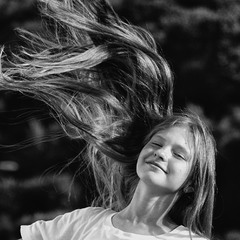 wind in hair
