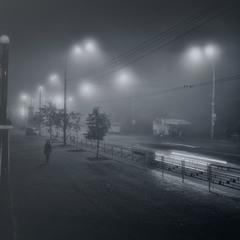 туманный вечер в городе моем