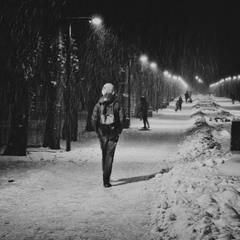 ночная прогулка в парке
