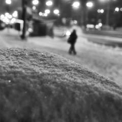 Снежным вечером.Домой.