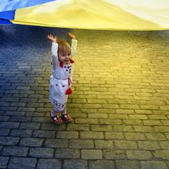 девочка и флаг