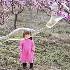 девочка и пузырь