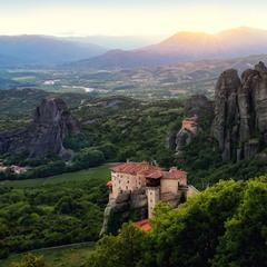 Закат в горах Фессалии