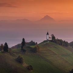 Утро в Юлийских Альпах.