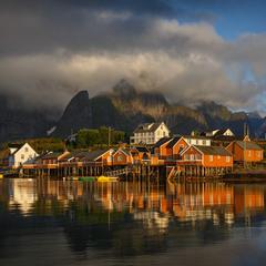 The fishing village.