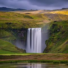 Водопад Скоугафосс.