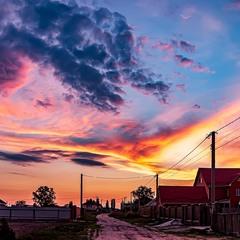 Закат на Киевщине