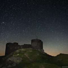 Гора Поп Иван. Звездное небо над обсерваторией