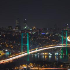 Стамбул. Босфорский мост.