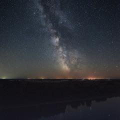 Украина. Черниговская область. Дробышев. Звездное небо над Десной.