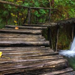 Плитвицкие озера. Дорога к водопаду.